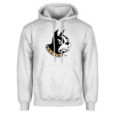 White Fleece Hoodie-Terrier