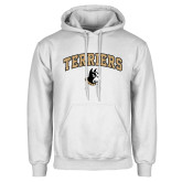 White Fleece Hoodie-Terriers Arched w/ Terrier