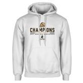 White Fleece Hoodie-2017 Football Champions