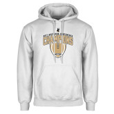 White Fleece Hoodie-2017 Football Champions Vertical Football