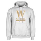 White Fleece Hoodie-W Wofford