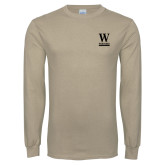 Khaki Gold Long Sleeve T Shirt-W Wofford