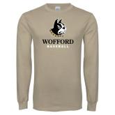 Khaki Gold Long Sleeve T Shirt-Baseball