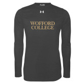 Under Armour Carbon Heather Long Sleeve Tech Tee-Wofford College Stacked