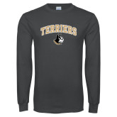 Charcoal Long Sleeve T Shirt-Terriers Arched w/ Terrier