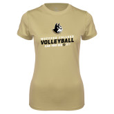 Ladies Syntrel Performance Vegas Gold Tee-Wofford College Volleyball Can You Dig It