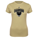 Ladies Syntrel Performance Vegas Gold Tee-2017 Football Champions Vertical Football