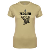Ladies Syntrel Performance Vegas Gold Tee-Terrier Basketball w/ Net