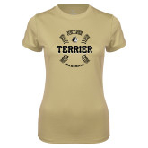 Ladies Syntrel Performance Vegas Gold Tee-Wofford College Terrier Baseball w/Seams
