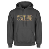 Charcoal Fleece Hoodie-Wofford College Stacked