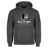 Charcoal Fleece Hoodie-Wofford Terriers w/ Terrier