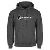 Charcoal Fleece Hoodie-Wofford Terriers w/ Terrier Flat
