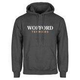 Charcoal Fleece Hoodie-Wofford Terriers Word Mark