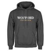 Charcoal Fleece Hoodie-Wofford Terriers Word Mark