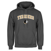 Charcoal Fleece Hoodie-Terriers Arched w/ Terrier