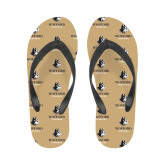 Ladies Full Color Flip Flops-Wofford Terriers w/ Terrier