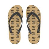 Ladies Full Color Flip Flops-W Wofford