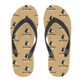 Full Color Flip Flops-Wofford Terriers w/ Terrier