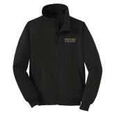 Black Charger Jacket-Wofford College Stacked