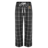 Black/Grey Flannel Pajama Pant-W Wofford
