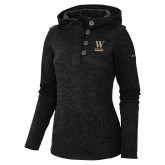 Columbia Ladies Darling Days Black Pullover-W Wofford