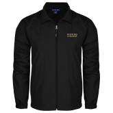 Full Zip Black Wind Jacket-Wofford College Stacked