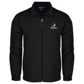 Full Zip Black Wind Jacket-Wofford Terriers w/ Terrier