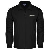 Full Zip Black Wind Jacket-Wofford Terriers w/ Terrier Flat