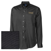 Cutter & Buck Black Nailshead Long Sleeve Shirt-Wofford College Stacked