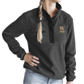 Ladies DRI DUCK Aspen Charcoal Fleece Pullover-W Wofford