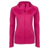 Ladies Tech Fleece Full Zip Hot Pink Hooded Jacket-W Wofford