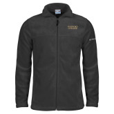 Columbia Full Zip Charcoal Fleece Jacket-Wofford College Stacked