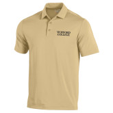 Under Armour Vegas Gold Performance Polo-Wofford College Stacked