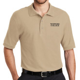 Stone Easycare Pique Polo-Wofford College Stacked