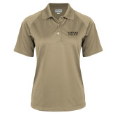 Ladies Vegas Gold Textured Saddle Shoulder Polo-Wofford College Stacked