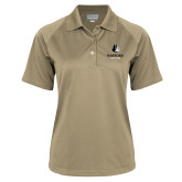Ladies Vegas Gold Textured Saddle Shoulder Polo-Wofford Terriers w/ Terrier