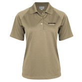 Ladies Vegas Gold Textured Saddle Shoulder Polo-Wofford Terriers Word Mark