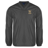 V Neck Charcoal Raglan Windshirt-W Wofford