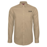 Red House Tan Long Sleeve Shirt-Wofford College Stacked