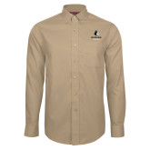Red House Tan Long Sleeve Shirt-Wofford Terriers w/ Terrier