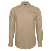 Red House Tan Long Sleeve Shirt-Wofford Terriers Word Mark