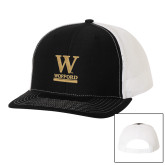 Richardson Black/White Trucker Hat-W Wofford
