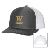 Richardson Charcoal/White Trucker Hat-W Wofford