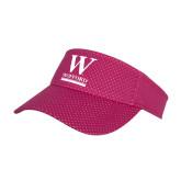 Pink Athletic Mesh Visor-W Wofford