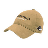 Vegas Gold Twill Unstructured Low Profile Hat-Wofford Terriers Word Mark
