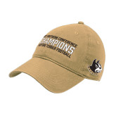 Vegas Gold Twill Unstructured Low Profile Hat-2017 Football Champions Stacked