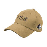Vegas Gold Heavyweight Twill Pro Style Hat-Wofford College Stacked