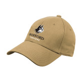 Vegas Gold Heavyweight Twill Pro Style Hat-Wofford Terriers w/ Terrier