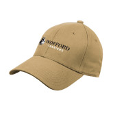 Vegas Gold Heavyweight Twill Pro Style Hat-Wofford Terriers w/ Terrier Flat