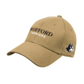 Vegas Gold Heavyweight Twill Pro Style Hat-Wofford Terriers Word Mark